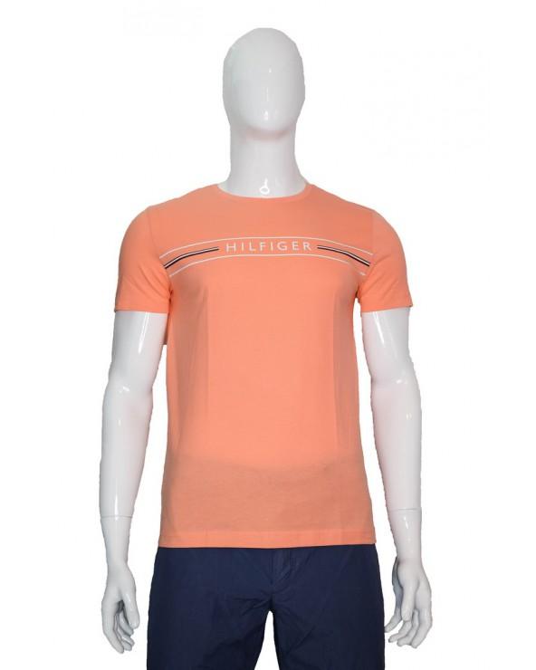 Koszulka TOMMY HILFIGER - MW0MW13328 SN7 pomarańczowy