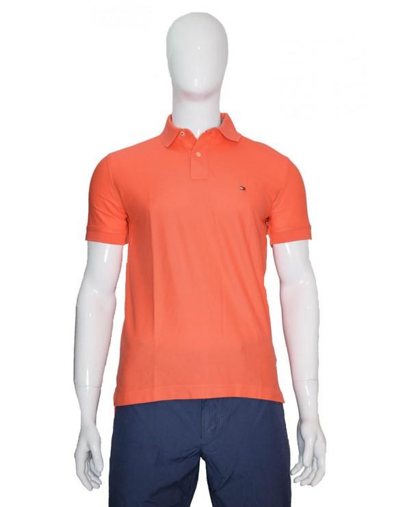 Koszulka Polo TOMMY HILFIGER - MW0MW10766 SOG pomarańczowy