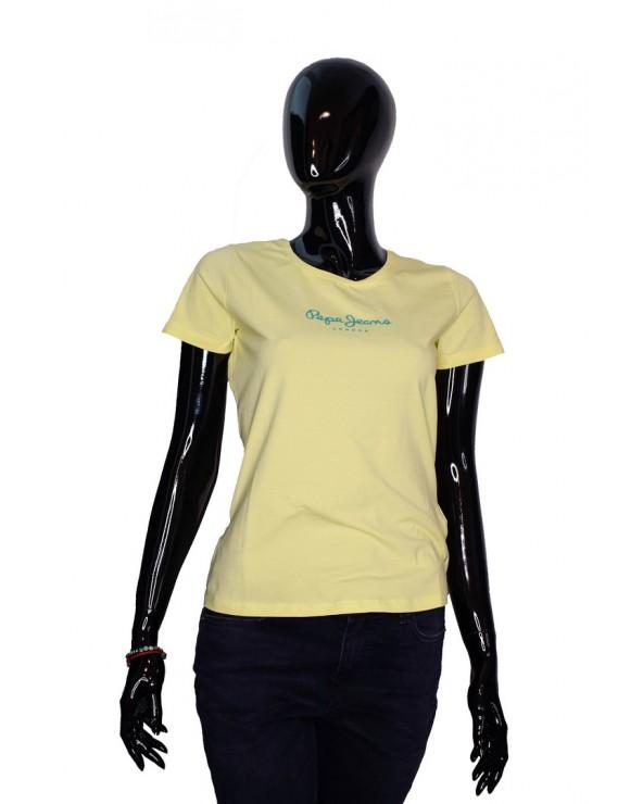 T-shirt PEPE JEANS - PL504290 VIRGINIA żółty