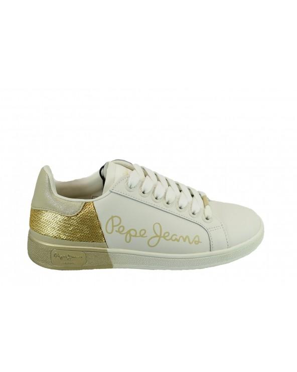 Sneakersy PEPE JEANS PLS30965 099 biały