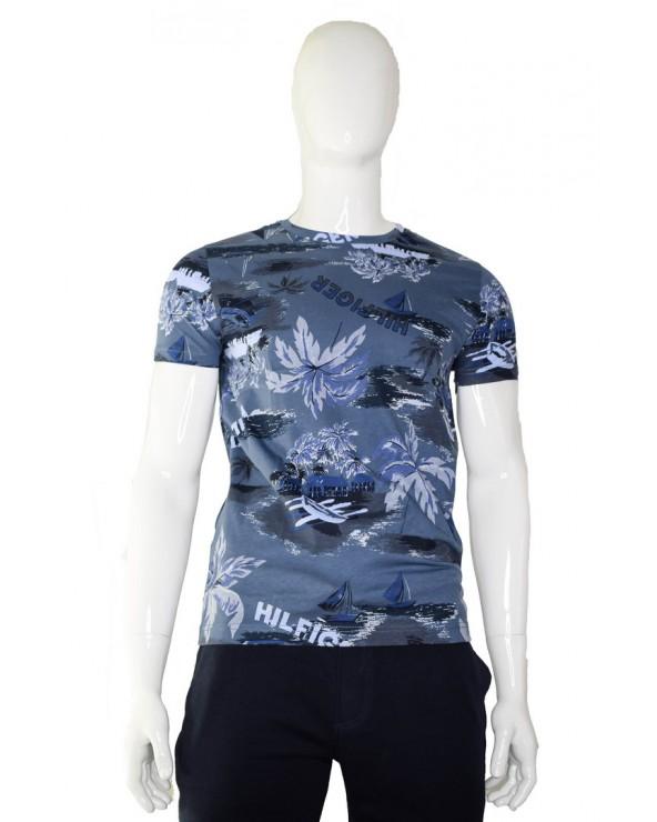 Koszulka TOMMY HILFIGER - MW0MW13358 C9T niebieski