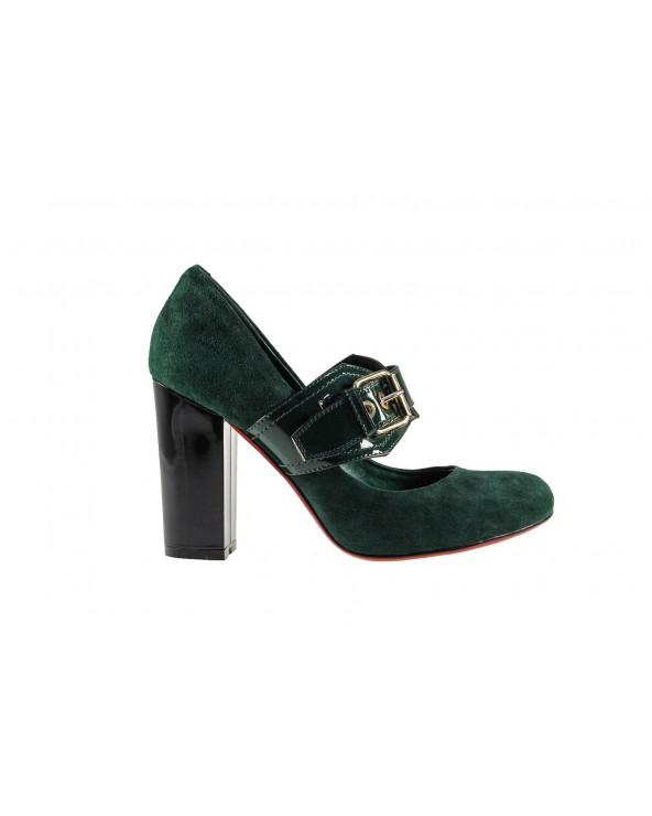 Czółenko damskie - zielone